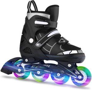 Kinder Inliner Inlineskates Skates Rollschuhen,Verstellbare Inline Skates mit Beleuchteten Rädern ,Roller Skates mit 82A Polyurethan Rädern,ABEC7,für Jungen, Mädchen, Anfänger,Einstellbarer Größe 38-41
