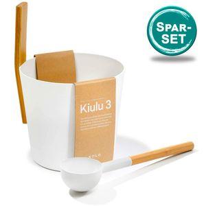 SET> KOLO Sauna Kübel 3 + Kelle, weiss