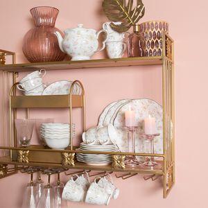 Clayre & Eef Teekanne TWFTE 25*13*15 cm / 1,2L - Mehrfarbig Porzellan Teekanne ohne Sieb Teekanne mit Deckel