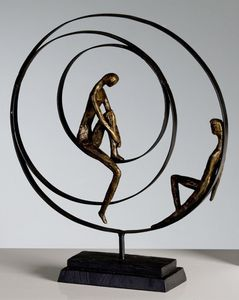 Casablanca Skulptur Patience bronze 41 cm 59594