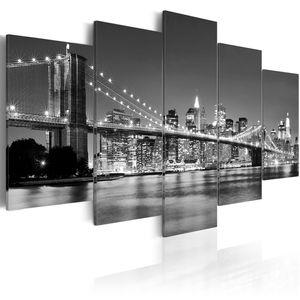 Modernes Wandbild 030211- 51 (200x100) - 5 Teilig Bilder Fotografie auf Vlies Leinwand Foto Bild Dekoration Wand Bilder Kunstdruck NEW YORK