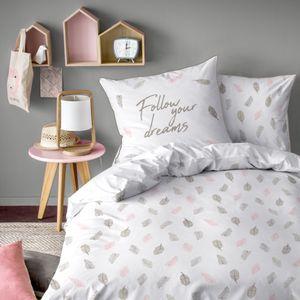 Federn Renforce-Bettwäsche mit Wende Motiv 135 x 200 cm - 100% Baumwolle