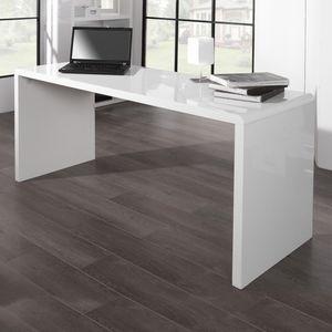 cagü: Design Schreibtisch [SOHO] Weiß Hochglanz  160cm x 60cm