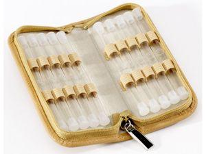 Homöopathische Taschenapotheke Klassik 20 Schlaufen Leder natur mit Klargläsern