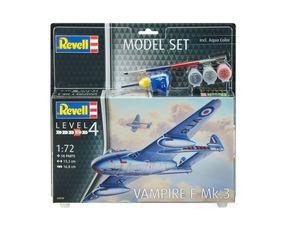 Revell Model Set Vampire F Mk.3 - Flugzeug-Modellbausatz; 63934