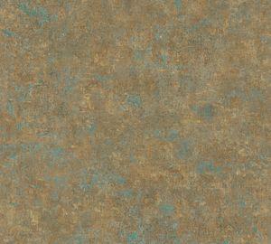 A.S. Création Unitapete History of Art einfarbige Tapete unifarben Vliestapete bronze petrol braun 10,05 m x 0,53 m