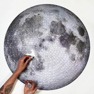 Mond Puzzle Rätsel Erde 1000 erwachsenes Himmel Weltraumtourist Flugzeug Puzzle Dekompression