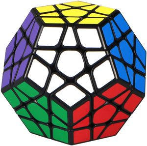 Zauberwürfel Megaminx Cube 3x3 Megamix Dodekaeder Speed Cube 3x3 Puzzle Würfel Spielzeug Schwarz