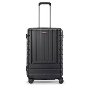 reisenthel suitcase M, Koffer, Reisekoffer, Rollkoffer, Trolley, Hartschalenkoffer, Polycarbonat, Iconic Shell Black, 55 L, LB7053