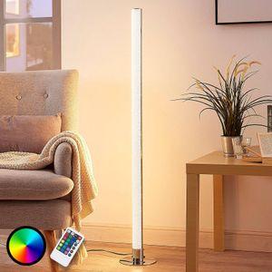 LED Stehlampe Hadis Fuß Chrom RGB-Funktion Fernbedienung Lampenwelt Stehleuchte