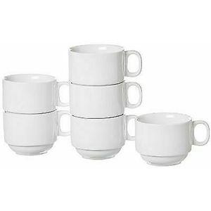 Ritzenhoff und Breker Kaffeeobertasse Bianco Porzellan 200ml 6 Stück