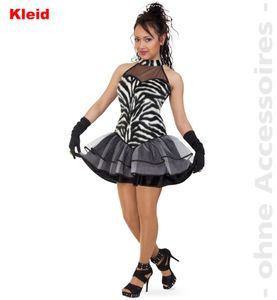 sexy pretty Zebra Karneval Fasching Kostüm 40