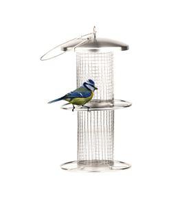Futterstelle Vögel Futterspender Edelstahl Wetterfest Vogelfutterstation zum Hängen