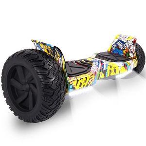 NewHover Hoverboard All Terrain Self Balancing Scooter mit leistungsstarker LED-Motorbeleuchtung Bluetooth für Erwachsene und Kinder 8,5 Zoll
