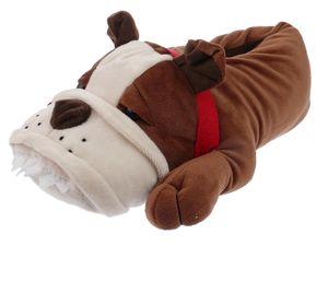 Bulldogge 1001B Tier-Hausschuhe Plüsch Hausschuhe Gr. 43/44