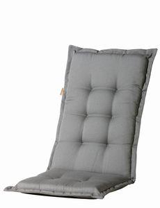 6 Stück MADISON Dessin Panama Auflage für Klappsessel, Gartenstuhl Hochlehner Auflage 75% Baumwolle, 25% Polyester, 123 x 50 x 8 cm, in grau