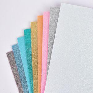 Rico Design Moosgummi Mix Pastell Glitter 2mm 20x30cm verschiedene Farben