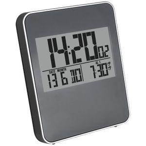 Digital Funkwecker mit Bewegungssensor Wecker batteriebetrieben Funk Uhr Reisewecker Kinderwecker Digitaluhr Tischuhr