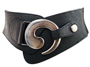 eloModa Damen Taille Stretchgürtel Breiter Hüftgürtel Gürtel 75-95 cm 08G