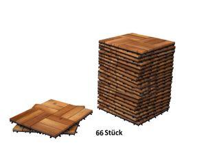 Holzfliesen Set 66 Stück = 6 m ² Akazie Modell 02