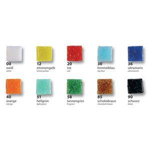 Folia Mosaik Glassteine, 10x10mm, 1000g, mehrfarbig, 1500-teilig (1 Set)