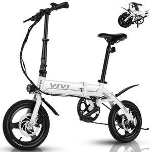 VIVI Ebike Faltrad, 250W Pedelec Elektrofahrrad Damen Herren, 14 Zoll Klappfahrrad E-Bike Leichtes Elektro Klapprad 7.8Ah Lithium-Ionen-Akku Citybike