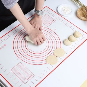 Silikonmatte Backmatte Silikon Teigmatte Wiederverwendbar Antihaft rutschfest  60 x 40 cm