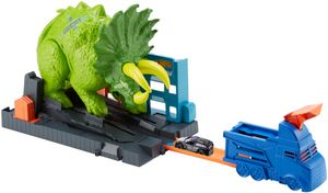 Hot Wheels City Triceratops-Angriff Spielset