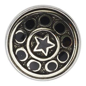 Noosa Chunk Pentagram Schmuck schwarz silber