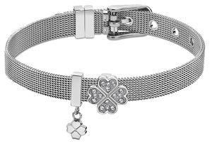 Damen Armband Edelstahl Lotus Style LS2077-2/3 Kleeblattanhänger Strass