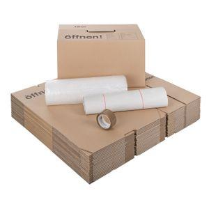 20 Umzugskartons + Luftpolsterfolie + Seidenpapier SET1