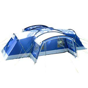 Familienzelt SKANDIKA Nimbus 12 Personen - 5000mm WS, 3 Schlafkabinen (blau)