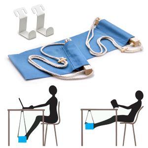 Fuß-Hängematte für Büro | Fußstütze Schreibtisch | Tragbare Fußhängematte | Fußablage Hängeschaukel | Stoffhängematte für Tisch