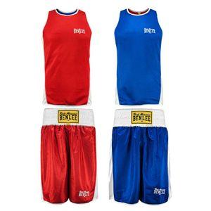 BENLEE Rocky Marciano 2er Set Tanktop und Shorts Herren Rot-Blau, Größe:XL