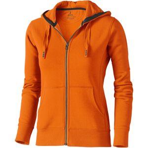 Elevate Damen Sweatjacke Arora mit Kapuze PF1851 (L) (Orange)