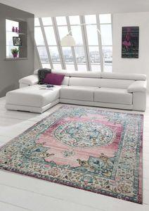 Teppich Orient Teppich Outdoor Wohnzimmerteppich Vintage in rosa Größe - 160 cm Rund