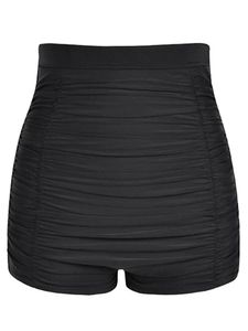 (Schwarz,M)Sexydance Frauen Badeshorts Hohe Taille Schwimmhose Strand Shorts Stretchhose Bikini-Hosen
