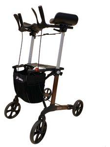 FabaCare Arthritis Rollator Set Tiger, pannensichere Softräder, drehbare Armauflagen, faltbarer Leichtgewichtrollator, höhenverstellbar, mit Tasche