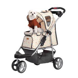 InnoPet ® buggy Monogram IPS-010 Hundebuggy Creme von Ibiyaya Vetrieb: Innopet