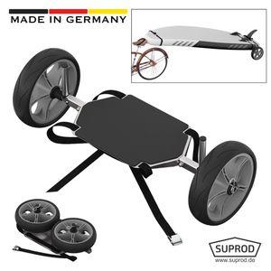 SUP-Räder, Stand Up Paddle Board Wheels, Transport Wagen, SUPROD UP261, Edelstahl, schwarz/grau