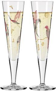 Ritzenhoff Champus Goldnacht Champagnerglas 15 Kraniche Christine Kordes 2021