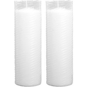 2er Pack Ersatzkerze / Nachfüllkerze N4 weiß in der Größe 18 cm