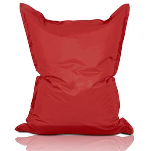 Lumaland Luxury Riesensitzsack XXL Sitzsack 380l Füllung 140 x 180 cm Indoor Outdoor Rot