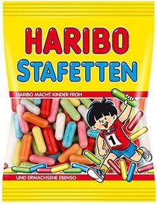 Haribo Stafetten süsse bunte Lakritz Dragees 7fach sortiert 200g