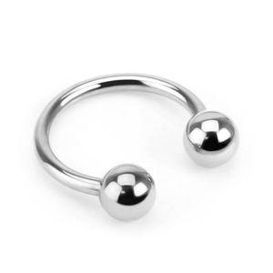 viva-adorno 1,2 x 8 x 3mm Hufeisen Piercing Edelstahl Lippenpiercing Augenbrauenpiercing Z54,Silber