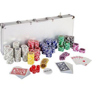 Pokerkoffer/Pokerset mit 500 Laserchips aus Aluminium