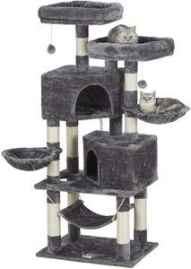 Kratzbaum für größe Katzen XXL Kratzbaum 145 cm Hoch Höhle und Liegeflächen Sisal-Stämme Spielplatz zum Kratzen
