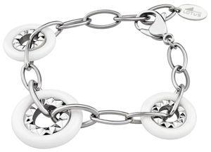 Lotus Armband LS1301-2/1 weiss silber Edelstahl Kunstoff