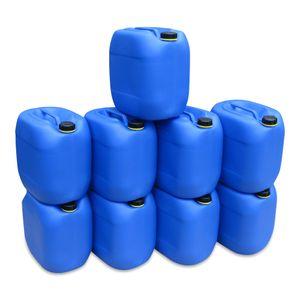 9 x 30 Liter L Kanister Wasserkanister Campingkanister Farbe blau lebensmittelecht (9x30 knb)