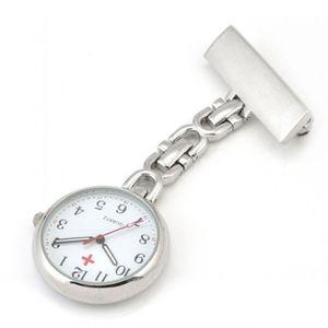 Krankenschwesteruhr - Schwesternuhr - Pflegeruhr - Legierung - Analog - Quarz Uhren - FOB-Uhr - Damen Taschenuhr - Quarzuhr Weiß